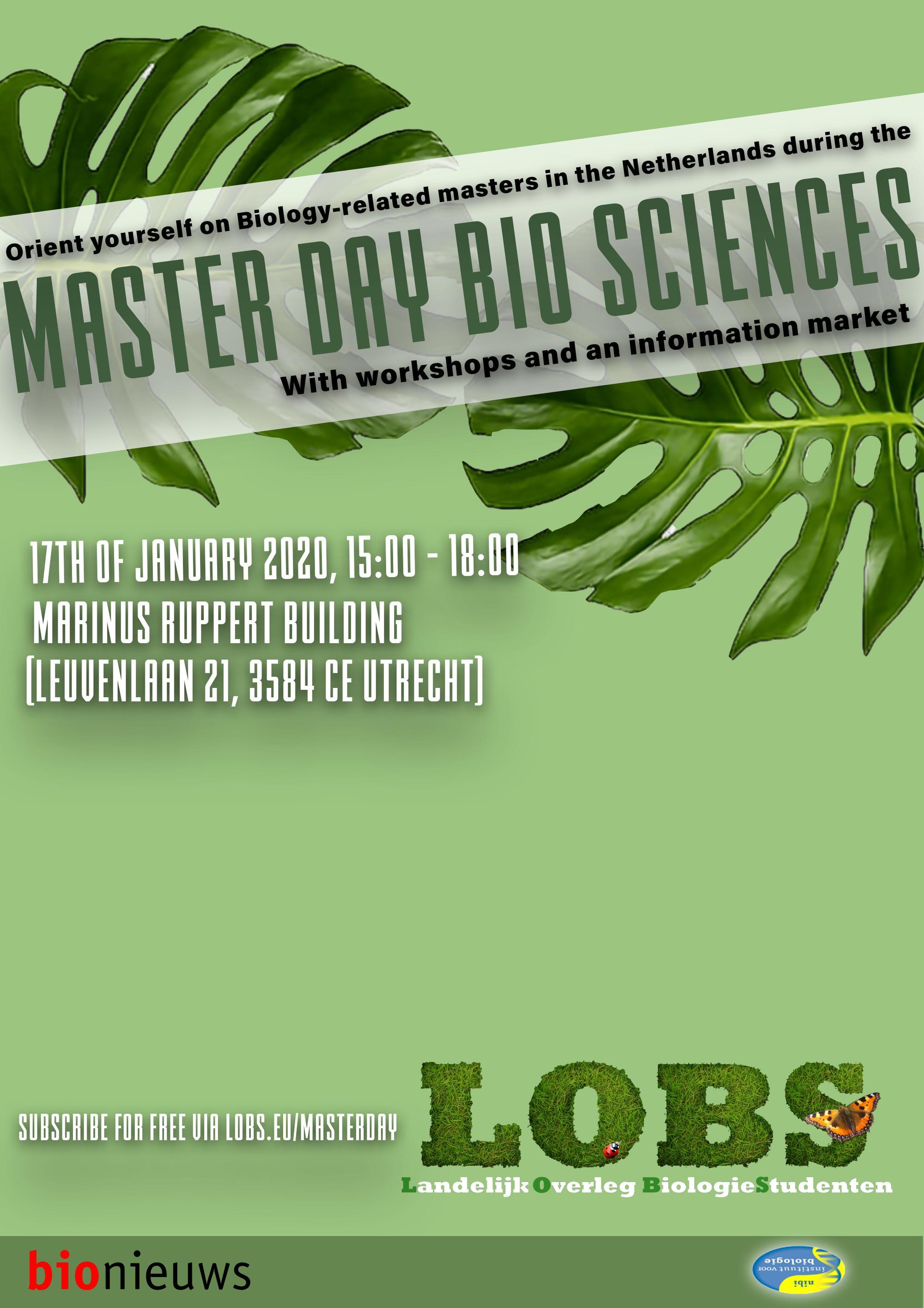 Master Day Bio-Sciences 2020