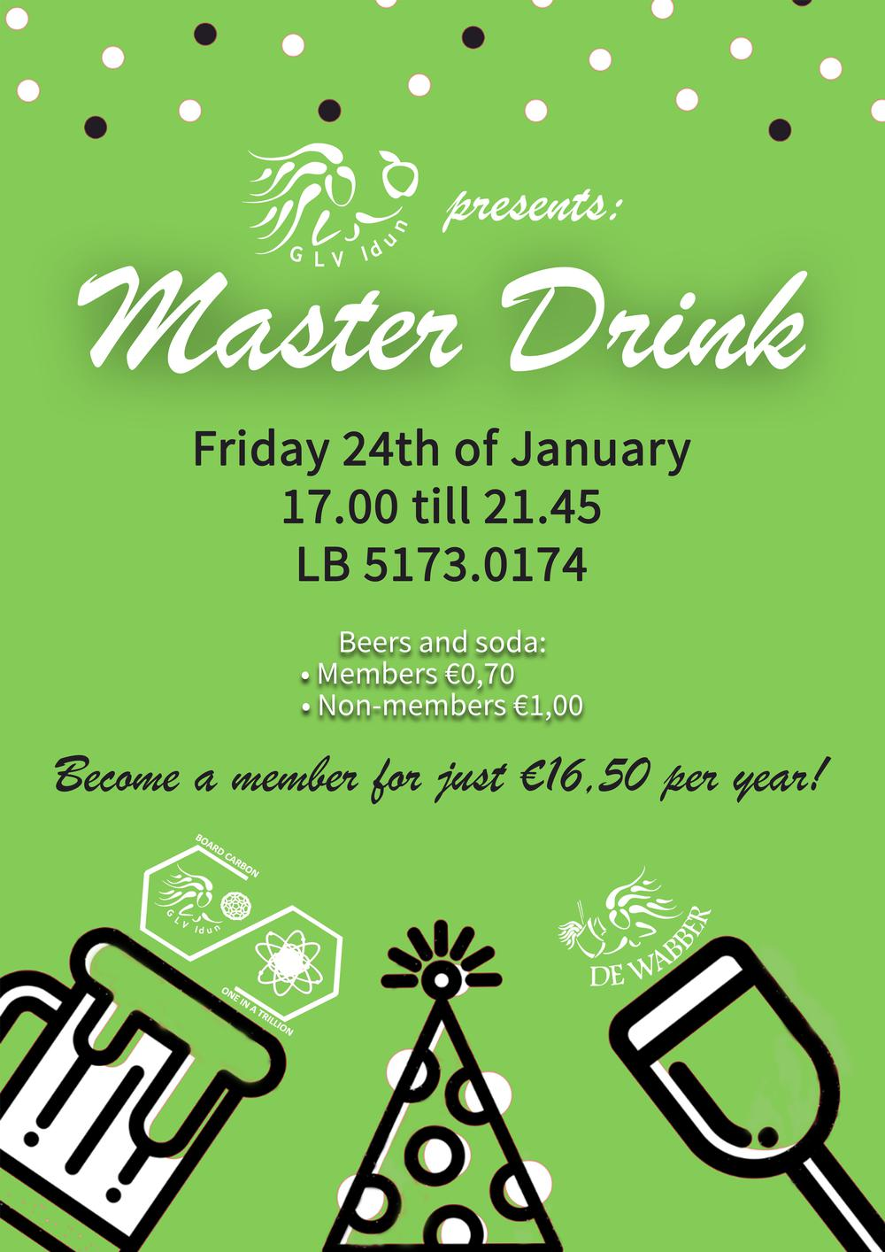 Master drink (open for everyone!)