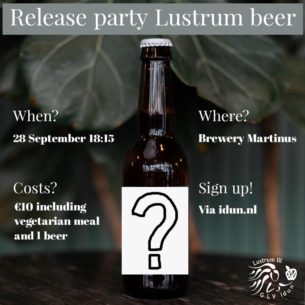 Release party Lustrum beer